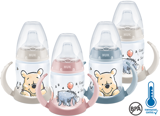 [Translate to English (british):] NUK First Choice Disney Winnie the Pooh Learner Bottle 150ml with Temperature Control