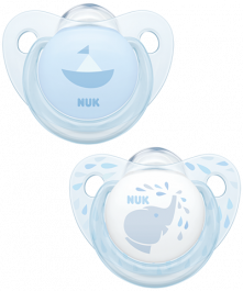 NUK Trendline Baby Rose & Blue Soother