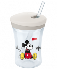 NUK Disney Mickey Action Cup 230ml with straw