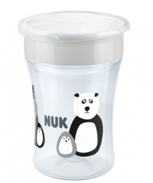 NUK Monochrome Animals Magic Cup 230ml with drinking rim