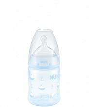 NUK First Choice Plus Baby Rose & Blue Baby Bottle with teat