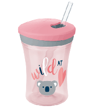 NUK Action Cup 230ml with drinking straw